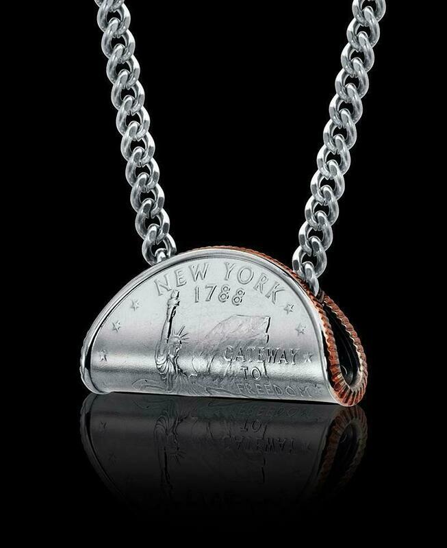 Rolled Quarter Necklace