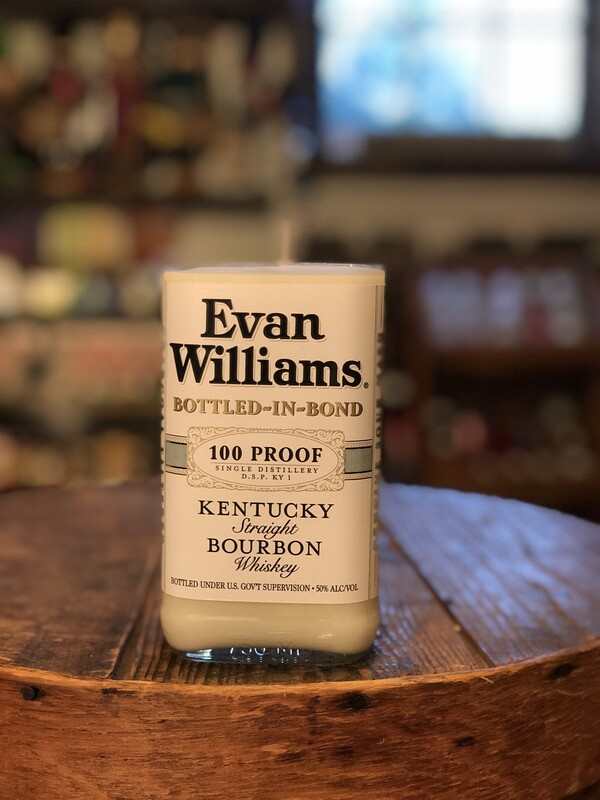 Evan Williams Bottle Candle