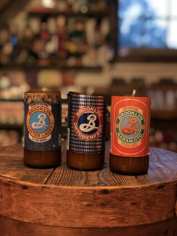 Brooklyn Recycled Beer Bottle Candle