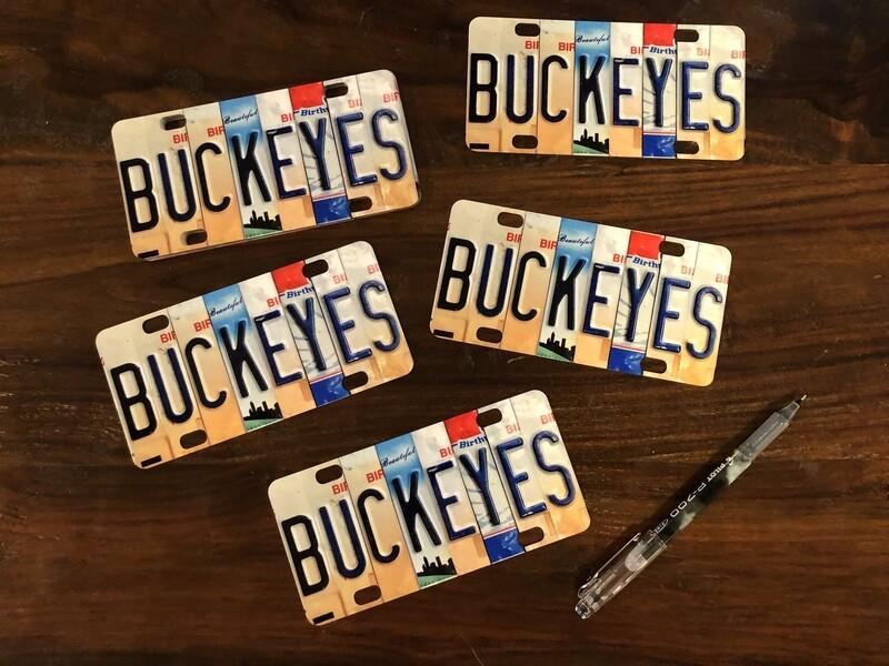 BUCKEYES Mini OHIO License Plate