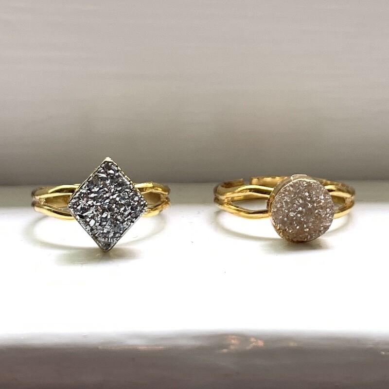 Druzy Rings