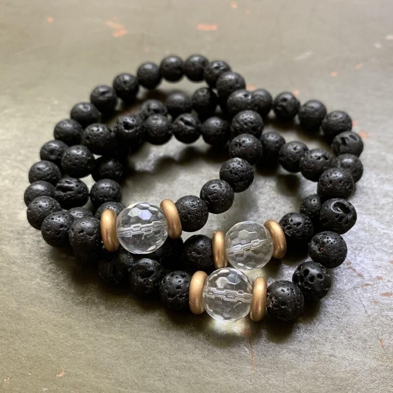 Quartz Lava Stone Bracelet