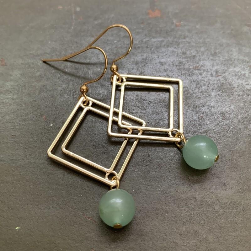 Square Adventurine Earrings