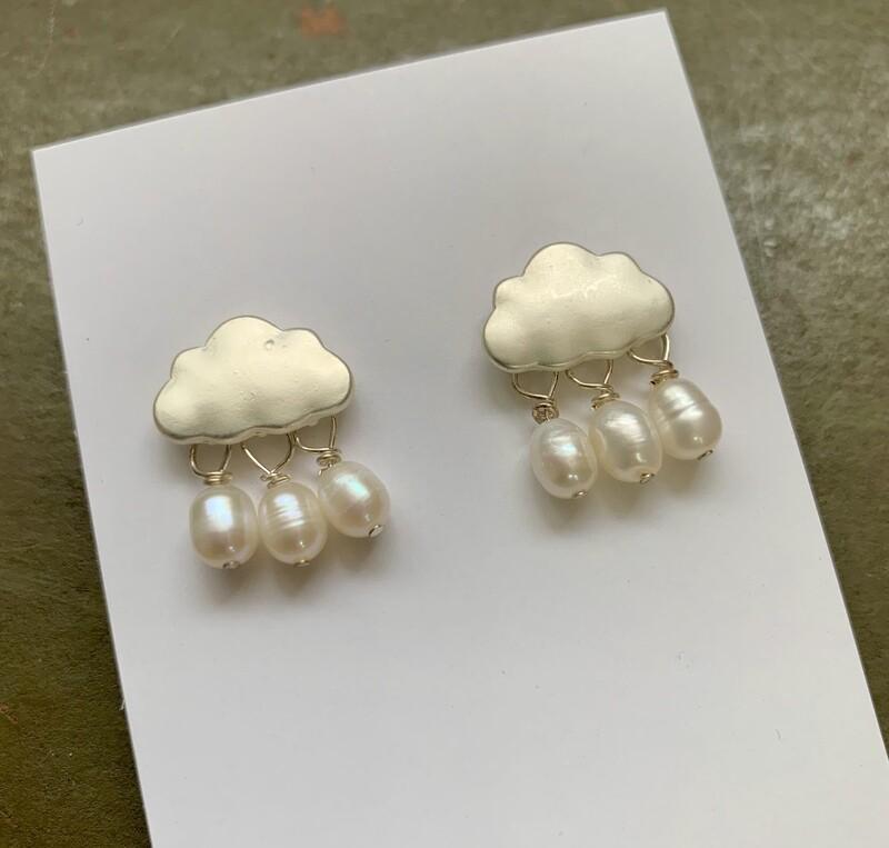Cloud Post Earrings