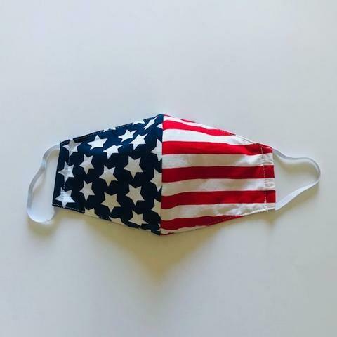 Flag Face Mask & Matching Dog Bandana