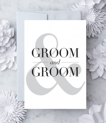 Bride & Groom Greeting Card