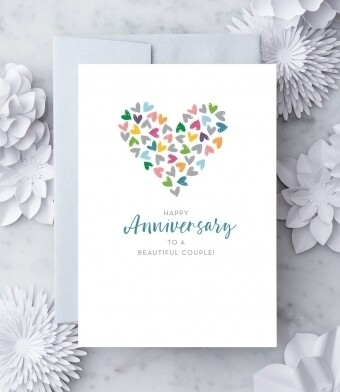 Happy Anniversary to a Beautiful Couple! Greeting Card