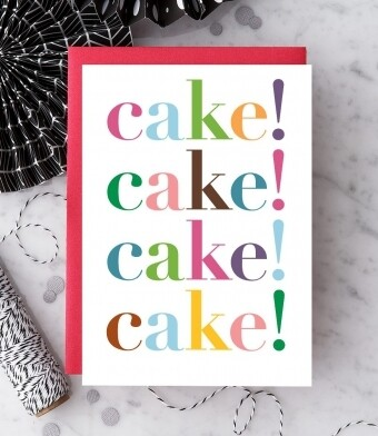Cake! Cake! Cake! Cake! Birthday Card