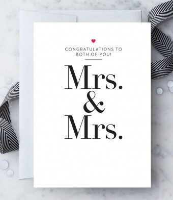 Congratulations Mrs. & Mrs. Greeting Card