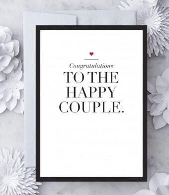 Congratulations to the Happy Couple Greeting Card