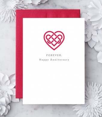 Forever. Happy Anniversary Greeting Card