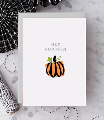 Hey, Pumpkin! Halloween Card