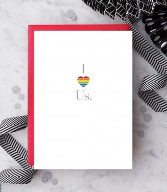 I Heart Us. Greeting Card