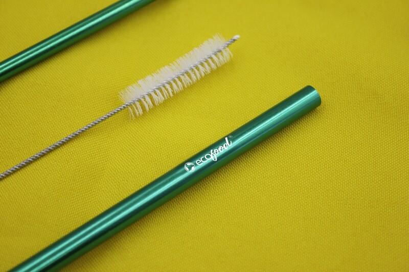 Kit Canudo 8mm + Escova para limpeza + Saquinho