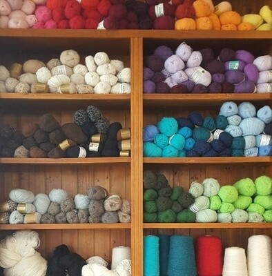An updated online store, serving our yarn customers for over 20 years now. ONE $11.95 FLAT FEE POSTAGE for all AU orders. CLICK ON A YARN CATEGORY ICON ON THE TOP ROWS TO SEE THE FULL RANGES.