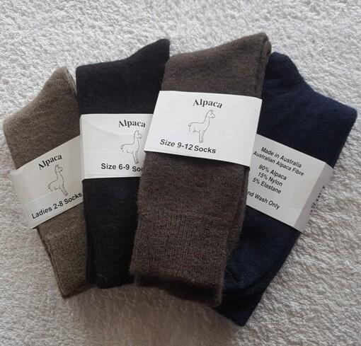 Socks - made from Australian alpaca fibre in Australia.