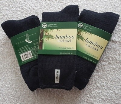 Bamboo Socks - heavy duty work sock made from ecologically sustainable bamboo production, super soft and absorbent. Designed in Australia. Bargain priced at AU$9.50 per pair
