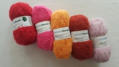 SUPER SPECIAL AU$9.50 50grams Brushed 12ply Brights reds-pinks 100% Australian alpaca yarn. Normally AU$11.55 each