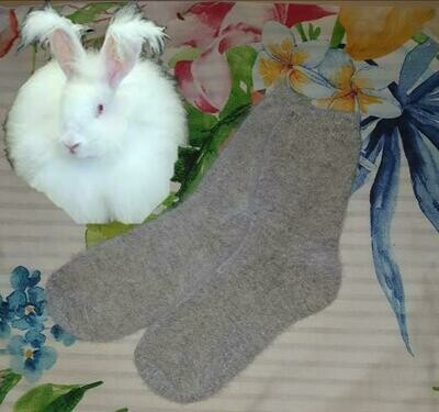 Angora Socks - made from the fibre of long coated fluffy angora rabbits. Luxuriously soft & durable.  Priced at only $6.00 a pair. Small/ladies size. Last pair left this batch.