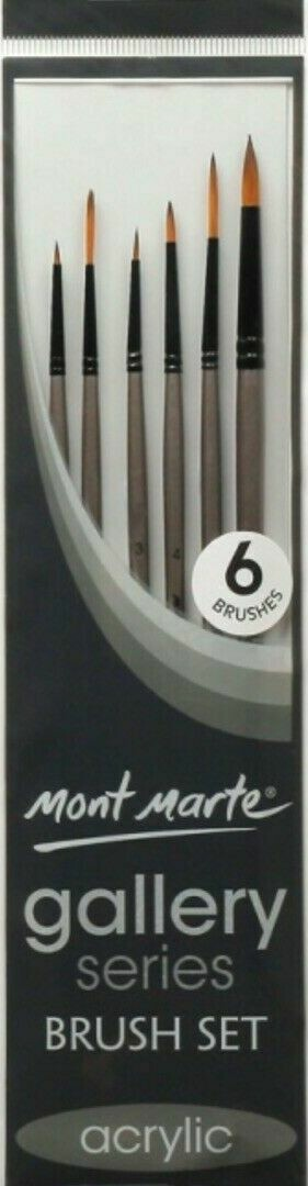 Round Fine liners brush set - Mont Marte 6 pack
