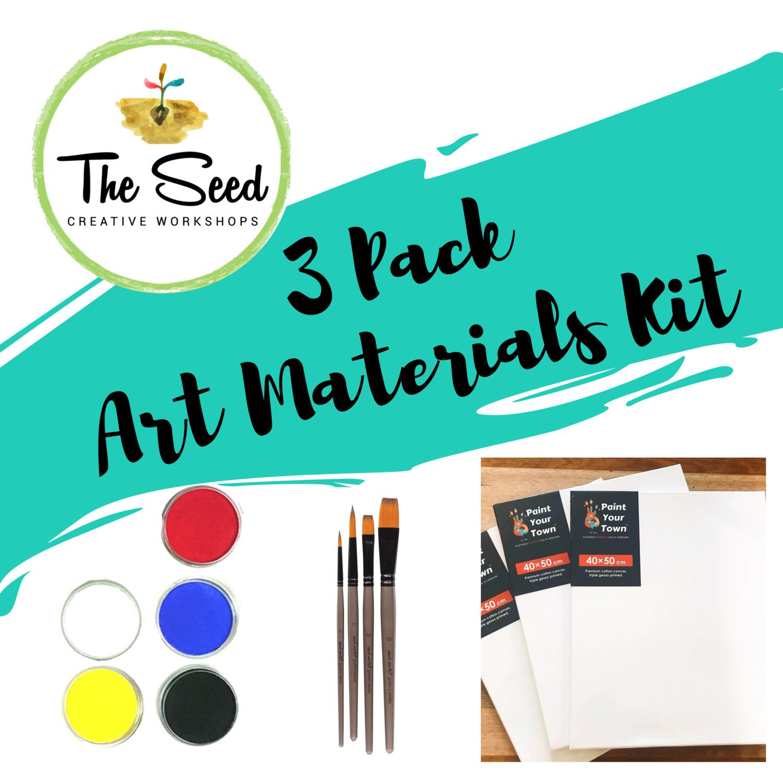 3 pack of art materials