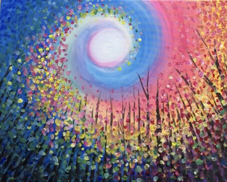 Digital painting class - Rainbow swirl