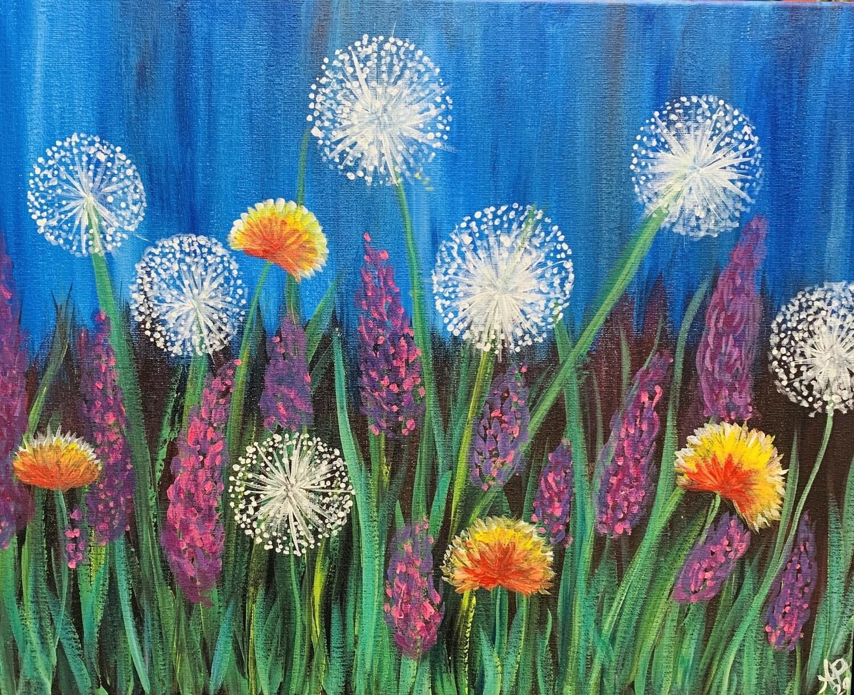 Digital painting class - Dandelion field