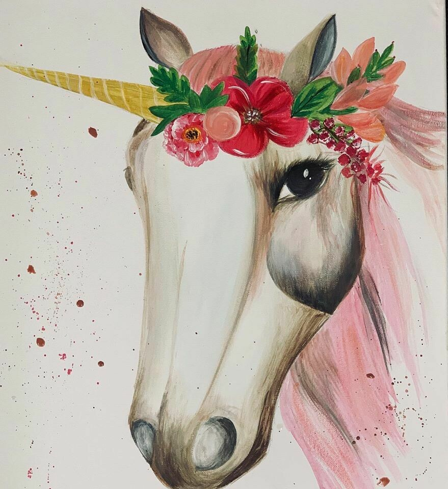 Digital painting class - Unicorn