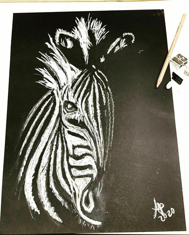 Digital drawing class - Charcoal animal