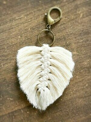 Macrame feather keychain - includes all materials