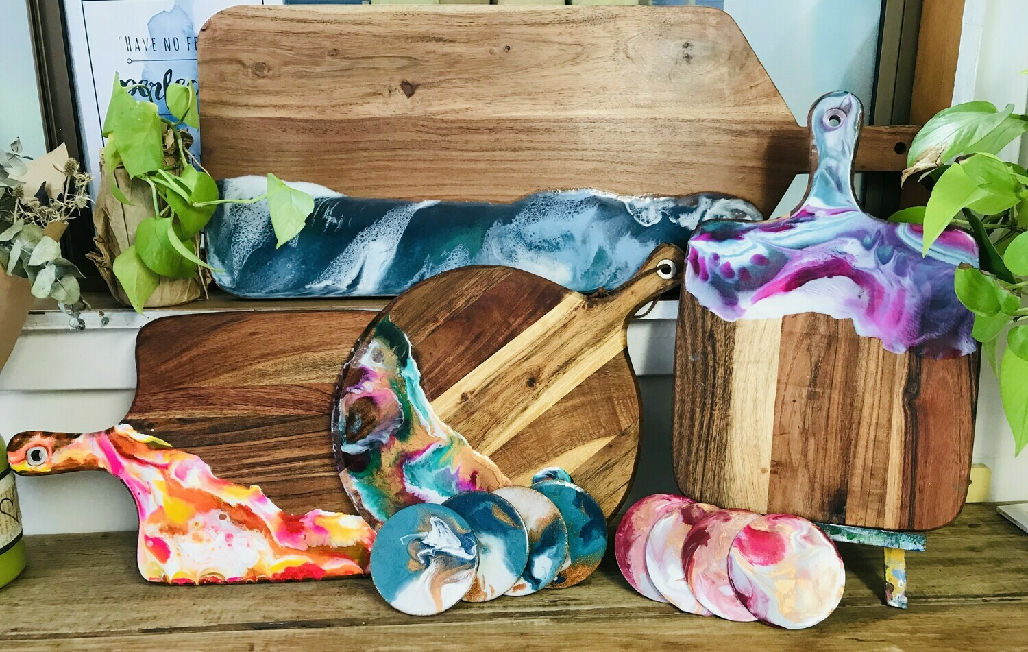 Resin Pouring Workshop - Wednesday 22 July 1-3pm