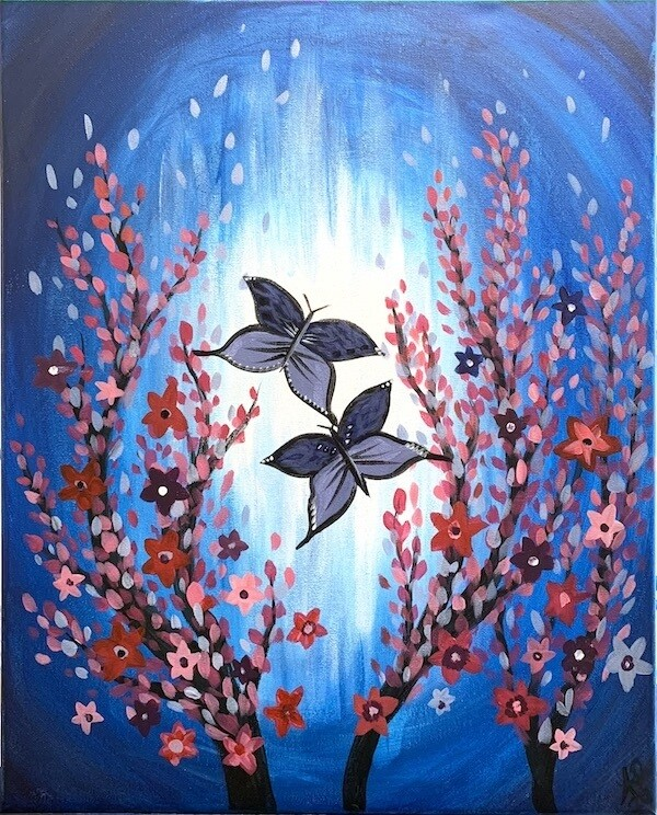 Digital painting class - Butterflies