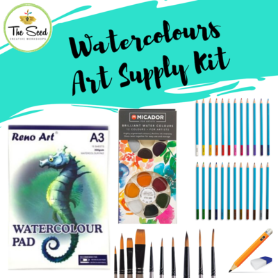 Watercolour Art Supply Kit