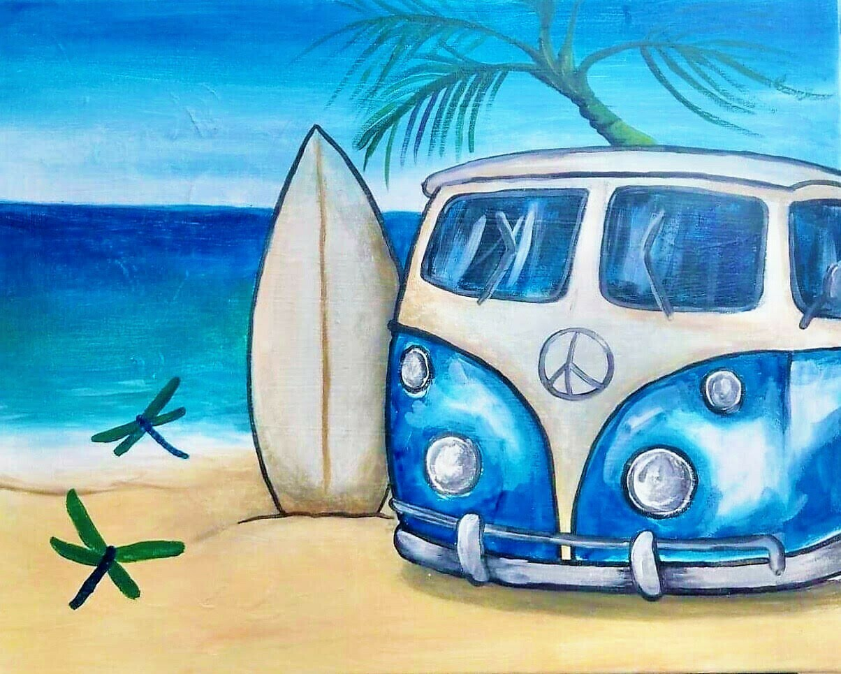 Digital painting class - Beach Time