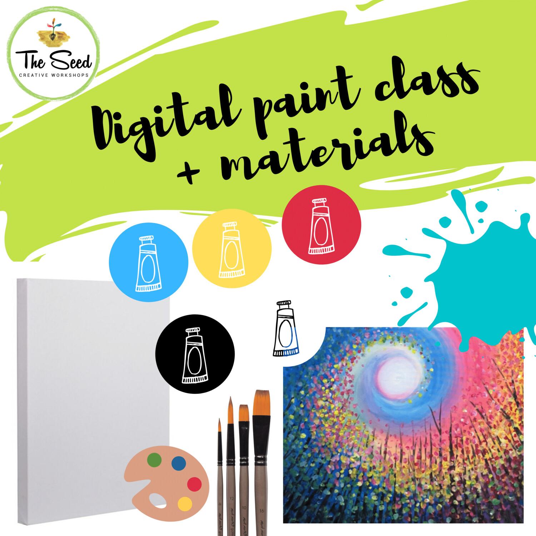 Rainbow Swirl Digital painting class + materials