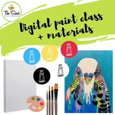Budgie Digital painting class + materials
