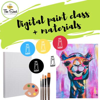Camel Digital painting class + materials