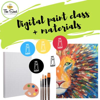 Lion Digital painting class + materials