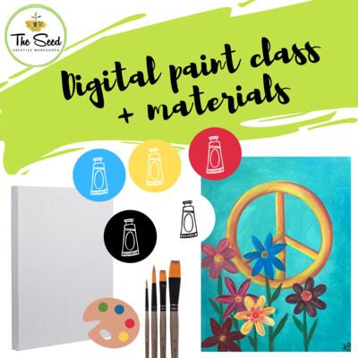 Peace Flowers Digital painting class + materials