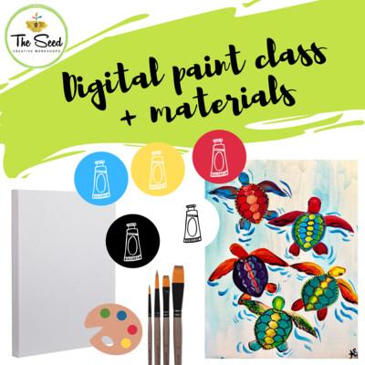 Sea Turtles Digital painting class + materials