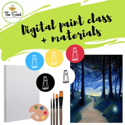 Midnight Stroll Digital painting class + materials