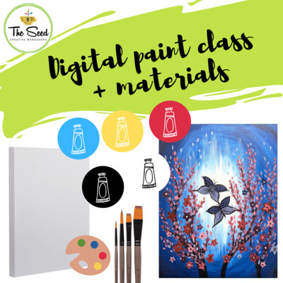 Butterfly Digital painting class + materials