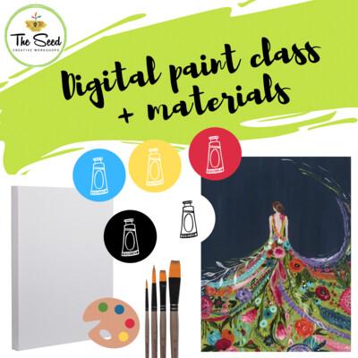 Fashion Digital painting class  + materials