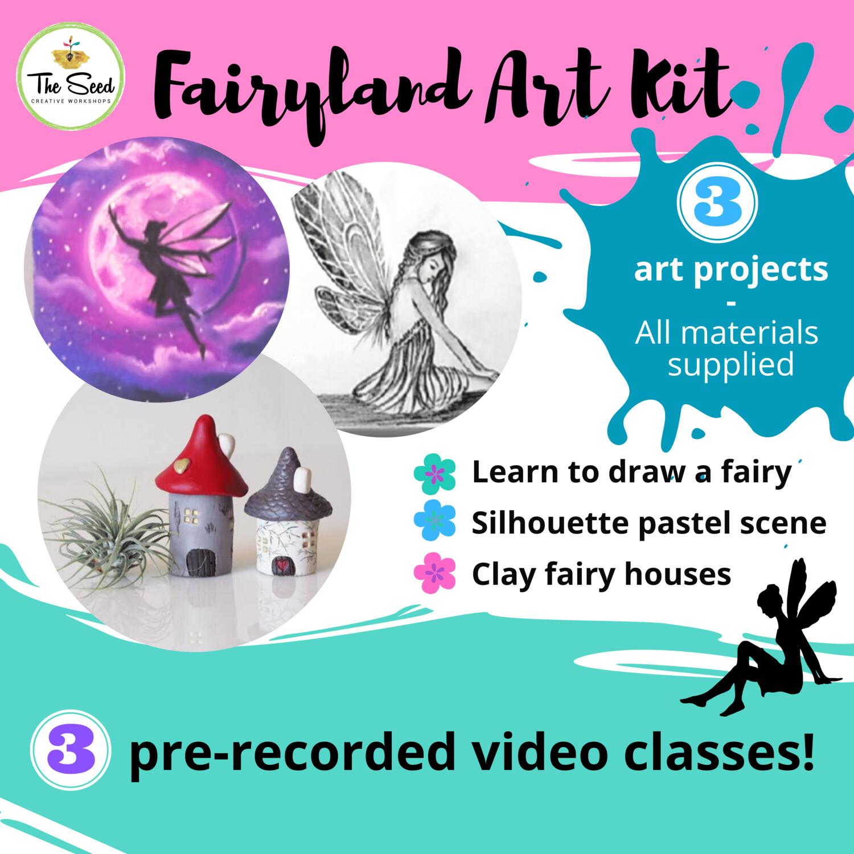 Fairyland Art Kit - video classes + all materials