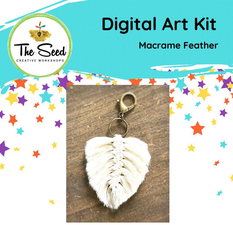 Macrame feather - Kids/Teens digital art class