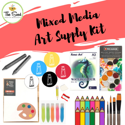 Mixed Media Art Supply Kit