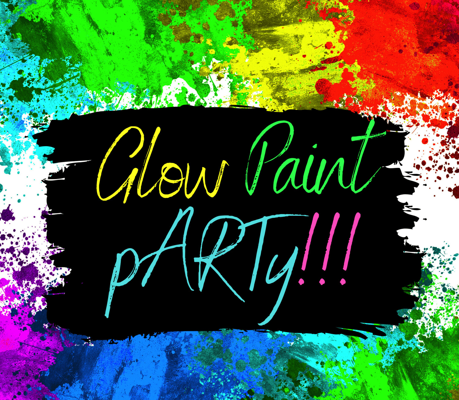 School Holidays GLOW paint pARTY! Monday 6 July 2-4pm