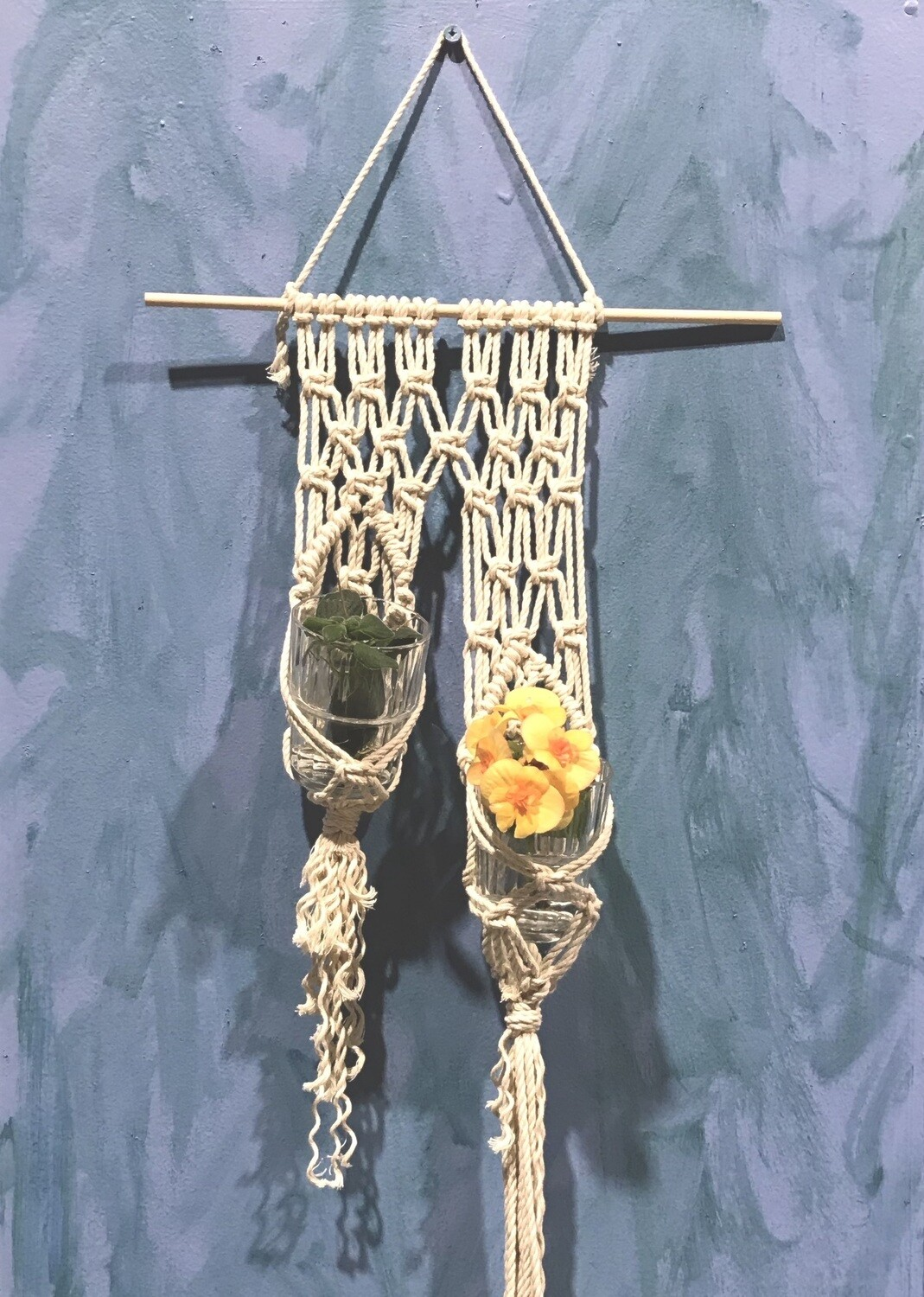 Macrame plant wall hanger workshop - Tuesday 7 July, 10am-12pm