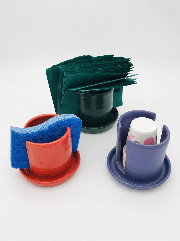 Sponge, cup or napkin holder