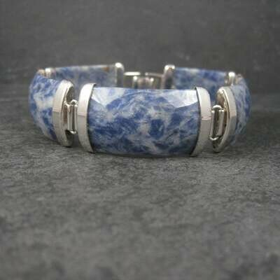 Sodalite Bracelet Sterling 8.5 Inches